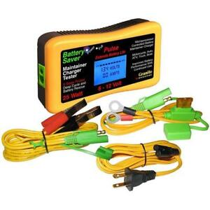 Battery Saver Battery Charger Tester Cleaner 6 12 Volt 25 Watt 3015 Lcd