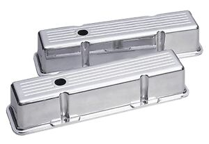 Ball Milled Tall Valve Cover Small Block Chevy Street Rod Racing Chevrolet Gm Ss