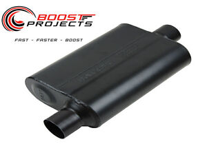 Flowmaster 44 Series Muffler 2 5 Offset In 2 5 Offset Out 942546