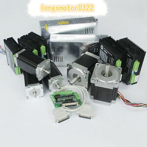 5axis Cnc Controller Kit Nema23 425oz in 3 0a nema34 878oz in 2 0a Stepper Motor