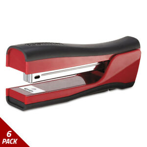 Bostitch Dynamo Stapler 20 sheet Capacity Candy Apple Red 6 Pack