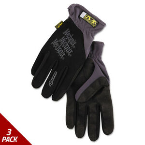 Mechanix Wear Fastfit Work Gloves Black Extra large 3 Pack