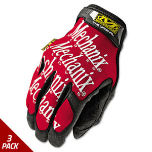Mechanix Wear The Original Work Gloves Red black Large 3 Pack