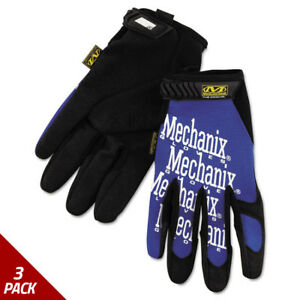Mechanix Wear The Original Work Gloves Blue black Extra Large 3 Pack