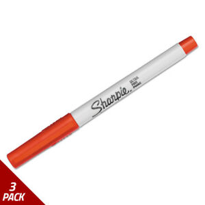 Sharpie Permanent Markers Ultra Fine Point Red Dozen 3 Pack