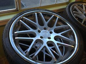 Silver Vertini Concave Rims With 2x 265 30 22 And 2x 295 25 22 Tires