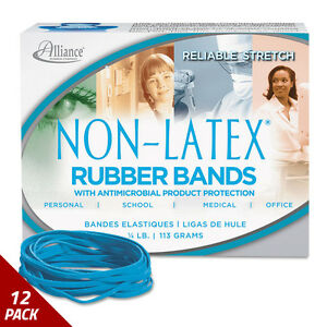 Antimicrobial Non latex Rubber Bands Sz 33 3 1 2x1 8 25lb Box 12 Pack