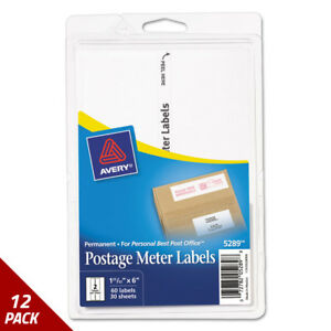 Postage Meter Labels For Personal Post Office E700 1 25 32x6 White 60ct 12 Pack