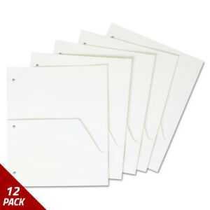 Cardinal Untabbed Ring Binder Double Pocket Dividers Letter White 5ct 12 Pack