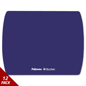 Fellowes Microban Ultra Thin Mouse Pad Sapphire Blue 12 Pack