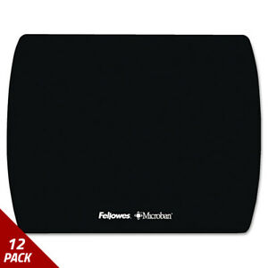 Fellowes Microban Ultra Thin Mouse Pad Black 12 Pack