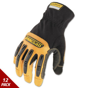 Ironclad Ranchworx Leather Gloves Black tan X large 6 Pack