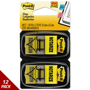 Post it Flags Arrow Message 1 Pg Flags notarize Yellow 2 50 flagct 12 Pack