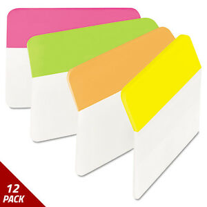 Post it Tabs Angled Tabs 2 X 1 1 2 Solid Assorted Brights 24ct 12 Pack