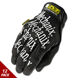 Mechanix Wear The Original Work Gloves Black Large 12 Pack