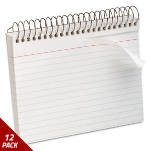 Oxford Spiral Index Cards 4 X 6 50 Cards White 12 Pack