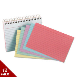 Oxford Spiral Index Cards 4 X 6 50 Cards Assorted Colors 12 Pack