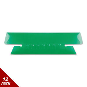 Hanging File Folder Tabs 1 3 Tab 3 1 2 Inch Green Tab white Insert 25ct 12 Pack