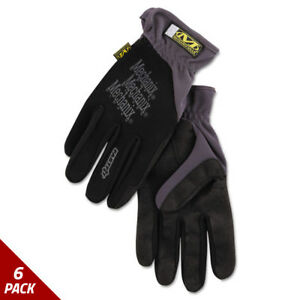 Mechanix Wear Fastfit Work Gloves Black Extra large 6 Pack