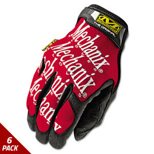 Mechanix Wear The Original Work Gloves Red black Large 6 Pack
