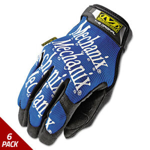 Mechanix Wear The Original Work Gloves Blue black Large 6 Pack