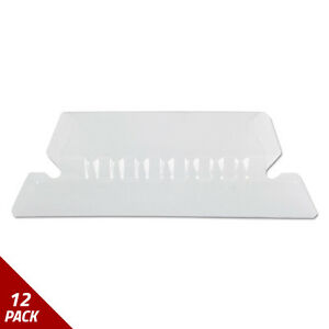 Hanging File Folder Tabs 1 5 Tab Two Inch Clear Tab white Insert 25ct 12 Pack