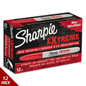 Sharpie Extreme Marker Fine Point Red Dozen 12 Pack
