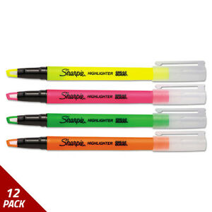 Sharpie Clearview Highlighter Fine Chisel Tip Assorted Ink 4ct 12 Pack