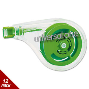 Universal One Sideways Application Correction Tape 1 5 X 393 6ct 12 Pack