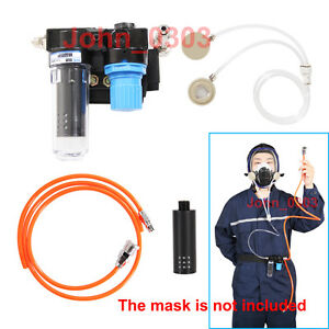 New Supplied Air Fed Respirator System For Painting Spraying Gas Mask Respirator