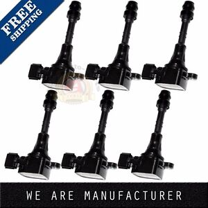 Set Of 6 Premium Ignition Coils For Nissan Altima Maxima 3 5 C1406 5c1403 Uf349