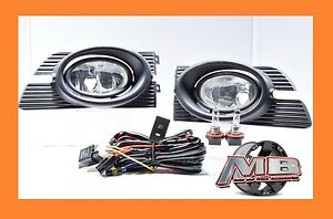 Winjet 2003 2004 2005 Honda Accord 4dr Fog Light Lamp Clear Wiring Kit Included