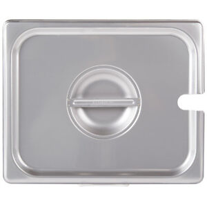 6 pack 1 2 Size Slotted Stainless Steel Restaurant Steam Table Hotel Pan Lid