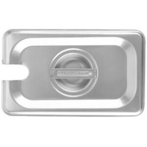 6 pack 1 9 Size Slotted Stainless Steel Silver Steam Table Hotel Pan Lids