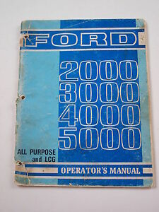 Ford 2000 3000 4000 5000 Tractor Operator s Owner s Manual Original 68 Se3225