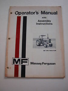 Massey ferguson Mf 285 Tractor Operator s Owner s Instruction Manual Original