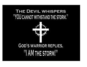 Devil Whispers To Gods Warrior Christian Vinyl Car Window Bible Decal Sticker