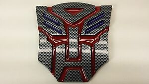 Carbon Red 3d Autobot 4 Inch Transformers Emblem Badge Decal Car Stickers Truck