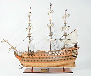 Hms Victory Admiral Nelson Flagship Tall Ship 58 Wood Model Sailboat Assembled