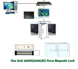 600 Lbs Kits Electric Door Lock Magnetic Access Control Id Card Password System