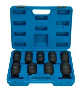 Deep Impact Socket Set 1 2 Drive Metric Axle Hub Nut Socket 29 38mm 9pc Set