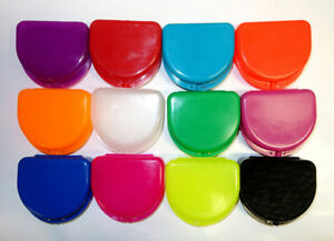 12 Dental Orthodontic Retainer Denture Mouth Guard Case Bleach Tray Box Assorted
