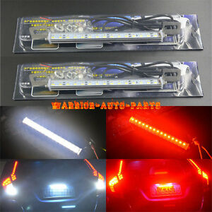 2x Dual color 30 smd Led Lamps White red For License Plate backup or Brake Light