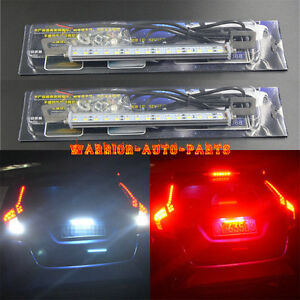 2x White red 30 smd Led Lamps For License Plate Light brake backup Reverse Light