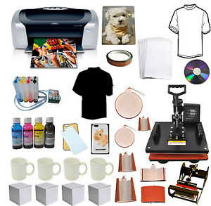 8in1 Pro Sublimation Heat Press epson Printer C88 ciss ink tshirts mugs Start up