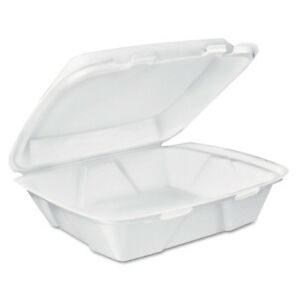 Dart Carryout Food Containers White Foam 7 4 5 X 8 1 2 X 2 1 2 Dcc Dt1r