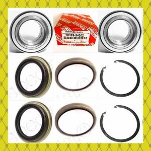 Front Wheel Hub Bearing seal W snap For Toyota Tundra 2000 2006 Pair 9036954002
