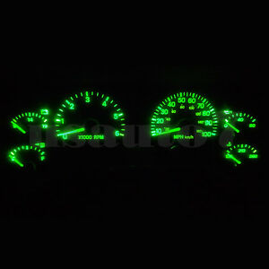 Dash Instrument Cluster Gauge Green Smd Led Light Kit Fit 97 06 Jeep Wrangler Tj