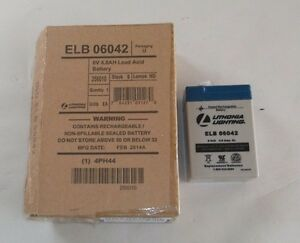 New Lithonia Battery Elb 06042 6v Rechargeable c27j