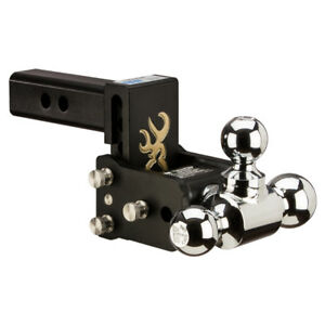 B W Tow And Stow Hitch Ball Mount 3 Drop Tri Ball Browning Ts10047bb